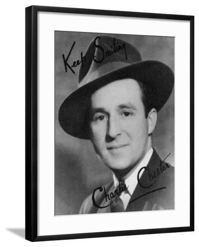 Charlie Chester, British Stand-Up Comedian and Tv and Radio Presenter, 20th Century-Montagu Watson-Framed Art Print