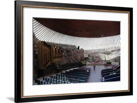 Interior, Temppeliaukio Church, Helsinki, Finland, 2011-Sheldon Marshall-Framed Art Print