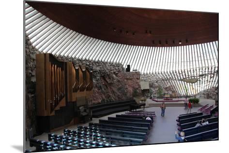 Interior, Temppeliaukio Church, Helsinki, Finland, 2011-Sheldon Marshall-Mounted Photographic Print
