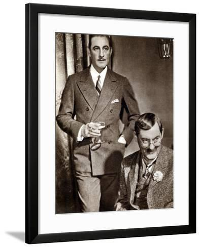 John (1882-194) and Lionel (1878-195) Barrymore, American Stage and Screen Actors--Framed Art Print