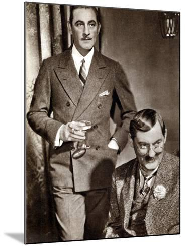 John (1882-194) and Lionel (1878-195) Barrymore, American Stage and Screen Actors--Mounted Photographic Print