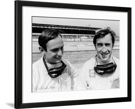 Jackie Stewart and Chris Amon, 1967--Framed Art Print