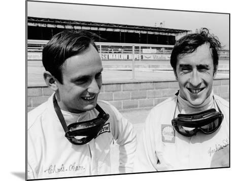 Jackie Stewart and Chris Amon, 1967--Mounted Photographic Print