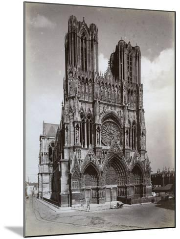Cathedral of Notre-Dame, Reims, France, Late 19th or Early 20th Century--Mounted Photographic Print