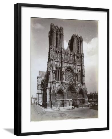 Cathedral of Notre-Dame, Reims, France, Late 19th or Early 20th Century--Framed Art Print