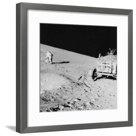 Astronaut David Scott (B193) on the Slope of Hadley Delta During Apollo 15, 1971--Framed Art Print