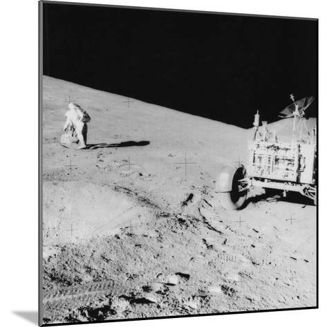 Astronaut David Scott (B193) on the Slope of Hadley Delta During Apollo 15, 1971--Mounted Photographic Print
