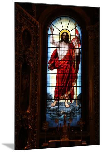 Christ, Stained Glass, St Isaac's Cathedral, St Petersburg, Russia, 2011-Sheldon Marshall-Mounted Photographic Print