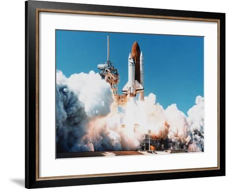 Launch of Space Shuttle Columbia from Kennedy Space Center, Florida, USA, 4 April 1997--Framed Art Print
