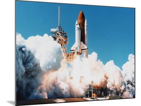 Launch of Space Shuttle Columbia from Kennedy Space Center, Florida, USA, 4 April 1997--Mounted Photographic Print