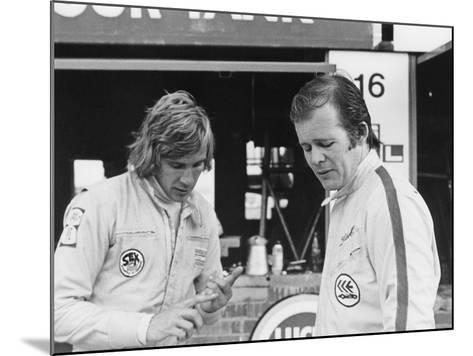 James Hunt with Charles Lucas, C1970--Mounted Photographic Print
