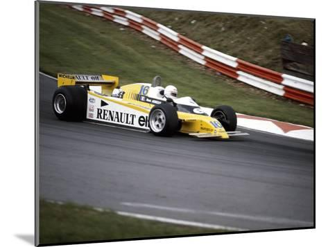 Rene Arnoux Racing a Renault Re20, British Grand Prix, Brands Hatch, 1980--Mounted Photographic Print