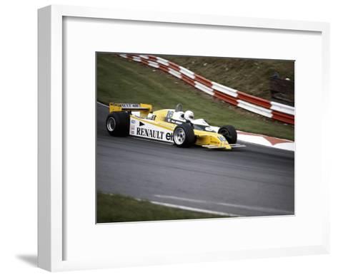 Rene Arnoux Racing a Renault Re20, British Grand Prix, Brands Hatch, 1980--Framed Art Print
