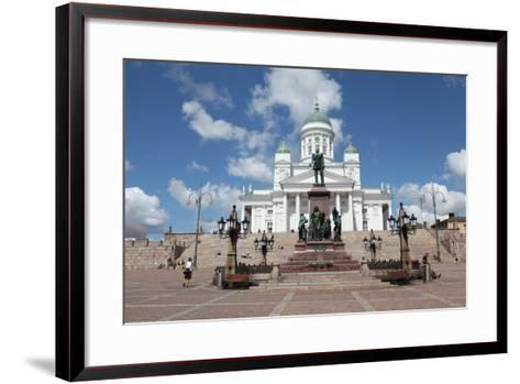 Lutheran Cathedral and the Statue of Emperor Alexander II of Russia, Helsinki, Finland, 2011-Sheldon Marshall-Framed Art Print