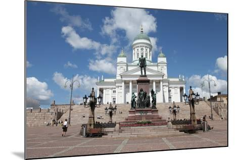 Lutheran Cathedral and the Statue of Emperor Alexander II of Russia, Helsinki, Finland, 2011-Sheldon Marshall-Mounted Photographic Print