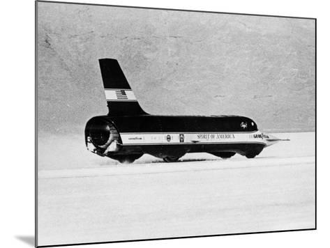 Spirit of America Sonic I' Breaking the Land Speed Record, Bonneville Salt Flats, Utah, USA, 1965--Mounted Photographic Print