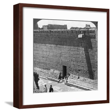 Scenes of Battle and the Chase Carved on a Wall at Medinet Habu, Thebes, Egypt, 1905-Underwood & Underwood-Framed Art Print