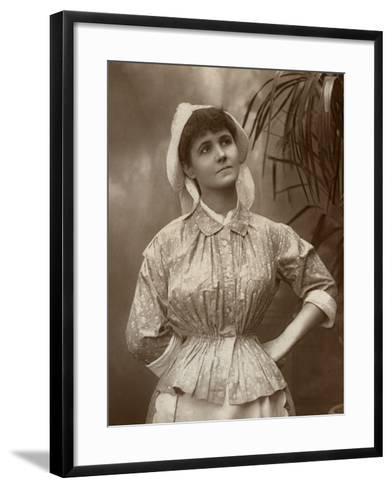 Agnes Hewitt, British Actress, 1887-HS Mandelssohn-Framed Art Print