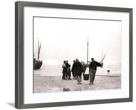 Men on the Shore, Scheveningen, Netherlands, 1898-James Batkin-Framed Art Print