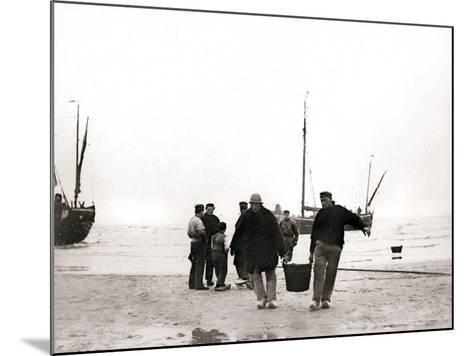 Men on the Shore, Scheveningen, Netherlands, 1898-James Batkin-Mounted Photographic Print