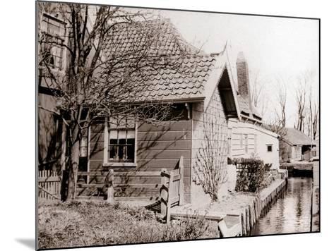 House on a Canal Bank, Broek, Netherlands, 1898-James Batkin-Mounted Photographic Print