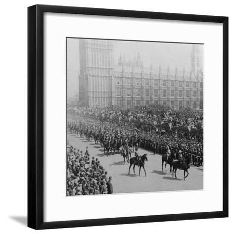 Canadian Mounted Troops, Procession for Queen Victoria's Diamond Jubilee, London, 1897-James M Davis-Framed Art Print