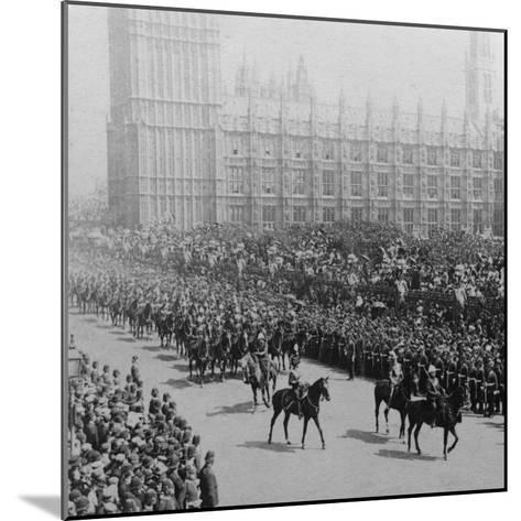 Canadian Mounted Troops, Procession for Queen Victoria's Diamond Jubilee, London, 1897-James M Davis-Mounted Photographic Print