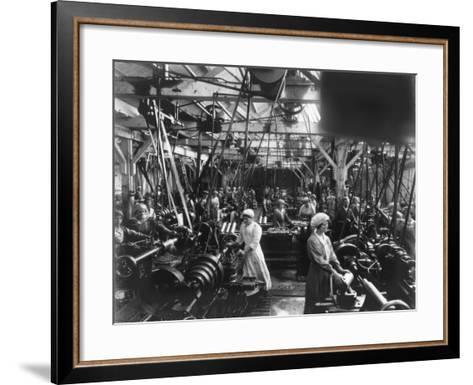 Munitions Factory, London, World War I, 1914-1918- Haua-Framed Art Print
