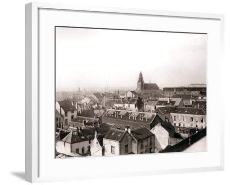Antwerp Skyline, 1898-James Batkin-Framed Art Print