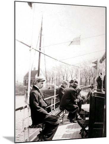 Boat Passengers, Broek, Netherlands, 1898-James Batkin-Mounted Photographic Print
