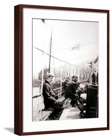 Boat Passengers, Broek, Netherlands, 1898-James Batkin-Framed Art Print