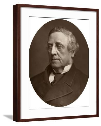 George Denman (1819-189), Judge of the High Court of Justice, 1882-Lock & Whitfield-Framed Art Print