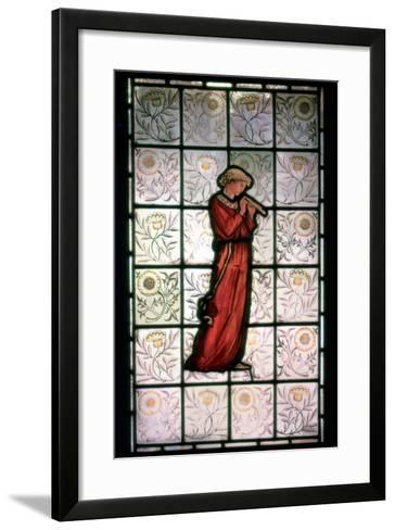 Stained Glass, Minstrel, 1882-1884-William Morris-Framed Art Print