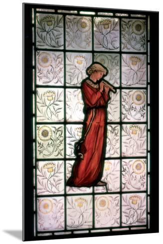 Stained Glass, Minstrel, 1882-1884-William Morris-Mounted Photographic Print