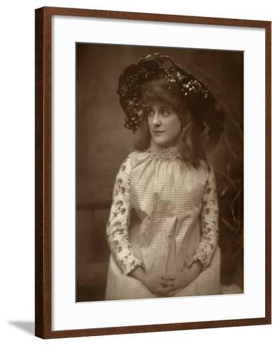Minnie Palmer, American Actress, 1884-Samuel A Walker-Framed Art Print