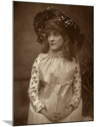 Minnie Palmer, American Actress, 1884-Samuel A Walker-Mounted Photographic Print
