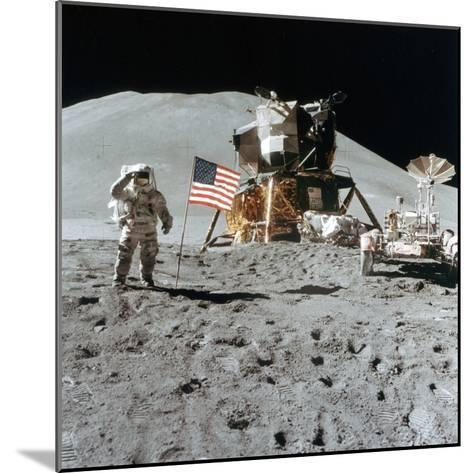 Astronaut James Irwin (1930-199) Gives a Salute on the Moon, 1971--Mounted Photographic Print