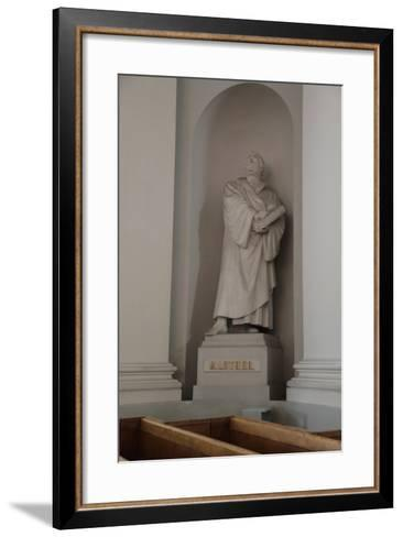 Statue of Martin Luther, Lutheran Cathedral, Helsinki, Finland, 2011-Sheldon Marshall-Framed Art Print