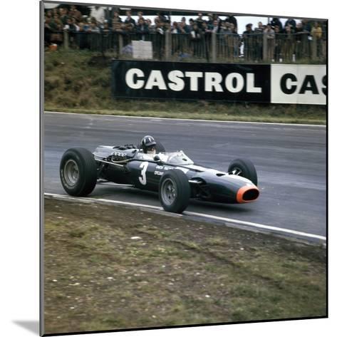 Graham Hill Racing a Brm P261, British Grand Prix, Brands Hatch, Kent, 1966--Mounted Photographic Print