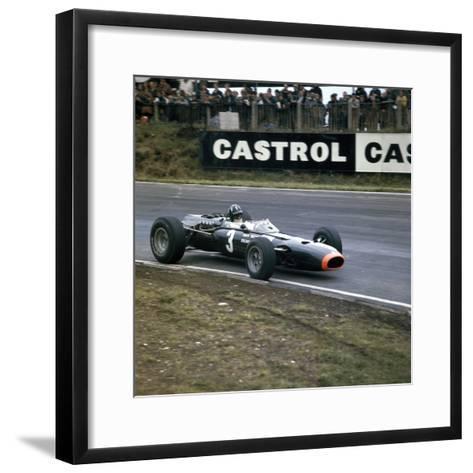 Graham Hill Racing a Brm P261, British Grand Prix, Brands Hatch, Kent, 1966--Framed Art Print