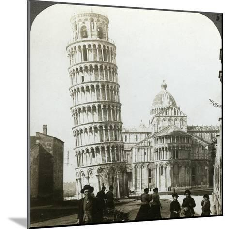 Cathedral and Leaning Tower of Pisa, Italy-Underwood & Underwood-Mounted Photographic Print