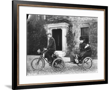 A De Dion Tricycle--Framed Art Print