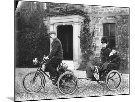 A De Dion Tricycle--Mounted Photographic Print