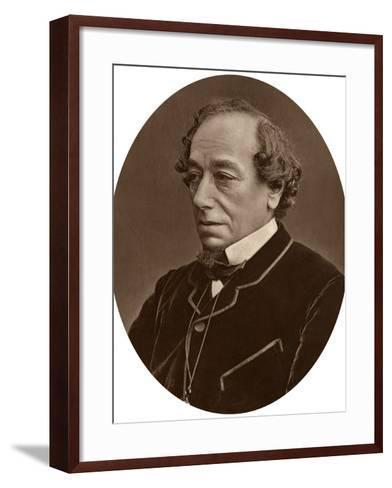 Benjamin Disraeli, Earl of Beaconsfield, Prime Minister, 1881--Framed Art Print