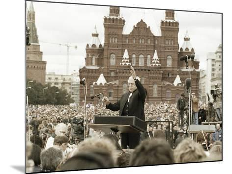 Mstislav Rostropovich, Russian Conductor, Red Square, Moscow, Russia, 1993--Mounted Photographic Print