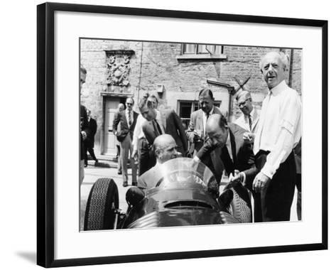 Juan Manuel Fangio at the Wheel of a V16 BRM, 1960s--Framed Art Print