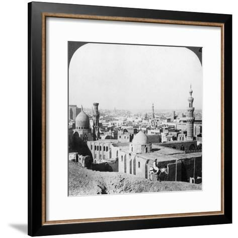 Cairo, Looking South West, across the City to the Pyramids, Egypt, 1905-Underwood & Underwood-Framed Art Print