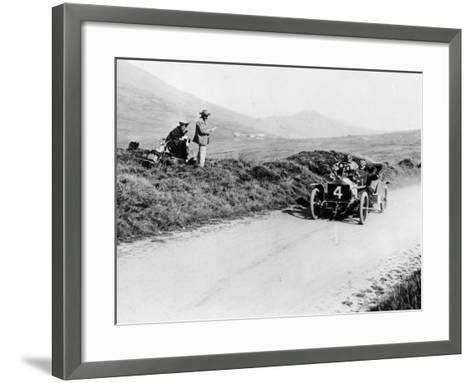 Charles Rolls on the Way to Winning the Isle of Man Tt Race in a 20 Hp Rolls-Royce, 1906--Framed Art Print