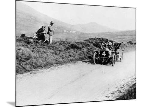 Charles Rolls on the Way to Winning the Isle of Man Tt Race in a 20 Hp Rolls-Royce, 1906--Mounted Photographic Print