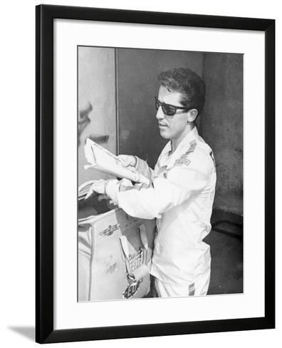 Mario Andretti--Framed Art Print